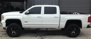 2014 GMC Sierrra Fabtech lift Fuel Beast wheels AMP power steps