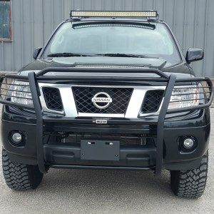 Nissan Frontier PRO-4X, Westin grille guard, roof rack light bar