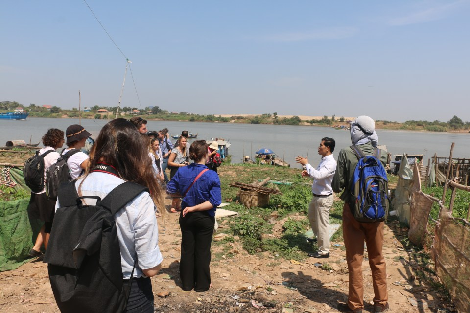 EWB Staffs were questioning about the importance and linkage between Tonle Sab Lake and people's living condition