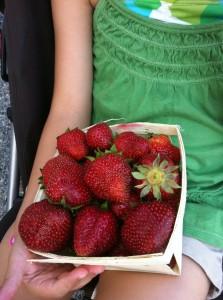 Strawberries at Oakmont Farmers Market