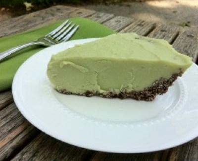 Avocado Ice Cream Pie with Chocolate Coconut Crust