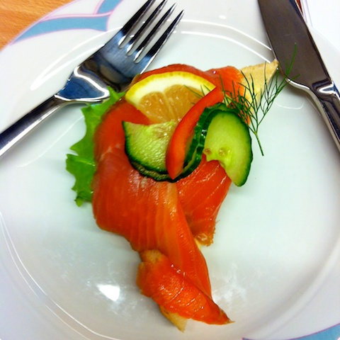 Typical Norwegian lunch: Smorbrod (open face sandwich)