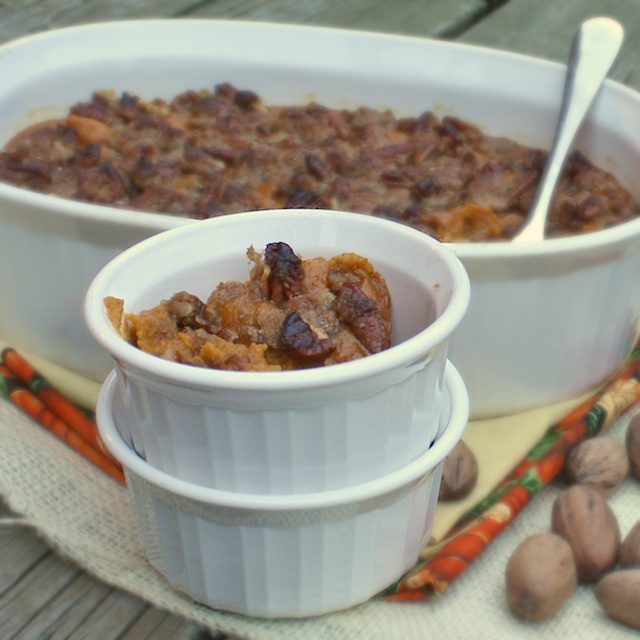 Sweet & Spicy Sweet Potato Bake | TeaspoonofSpice.com