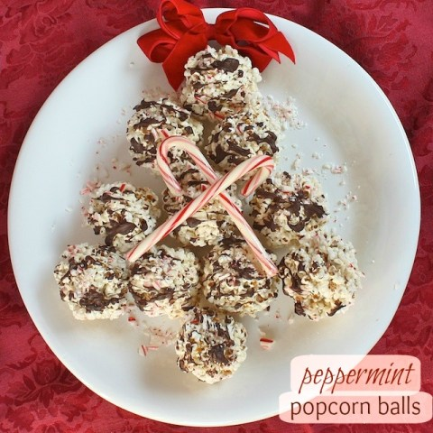 Peppermint Popcorn Balls | Teaspoonofspice.com