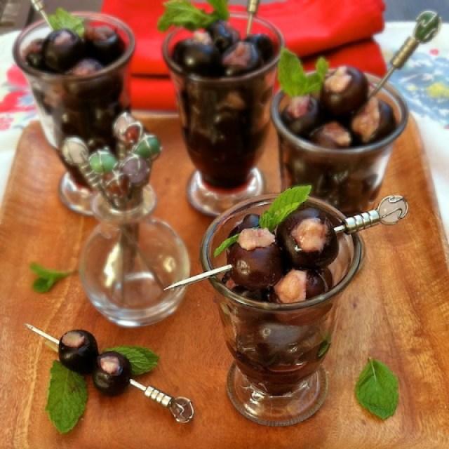 Cherry Almond Cocktail | TeaspoonOfSpice.com