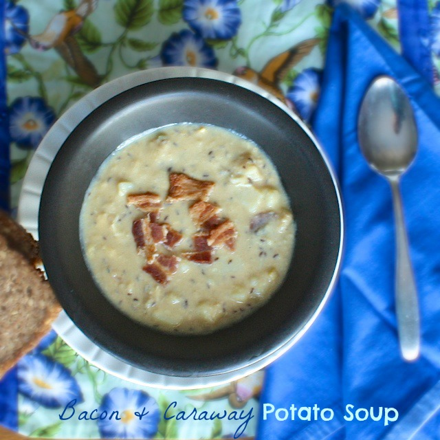 Bacon Caraway Potato Soup | Teaspoonofspice.com