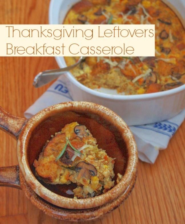 Thanksgiving Leftovers Breakfast Casserole | Teaspoonofspice.com