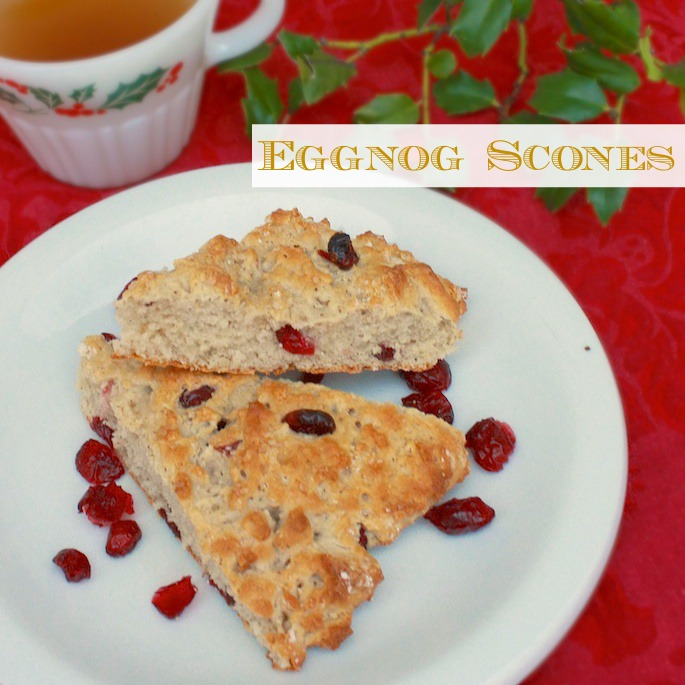 3 Ingredient Eggnog Scones | Teaspoonofspice.com