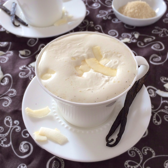 Vanilla Coconut Milk Steamer | Teaspoonofspice.com
