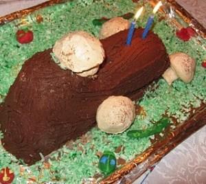 A Birthday Buche de Noel