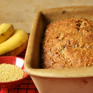 Banana Crunch Bread with Toasted Millet