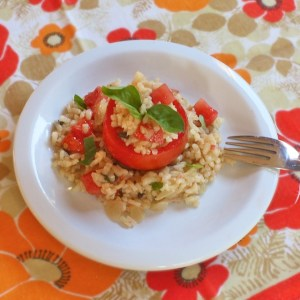 Tomato Basil Risotto + Cooking Light Cookbook Giveaway