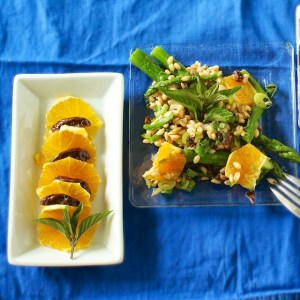 Orange Date Barley Salad with Mint + Cooking Light Cookbook Giveaway