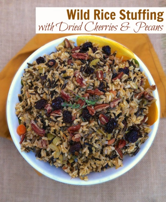 Wild Rice Stuffing with Dried Cherries & Pecans cookbook ...