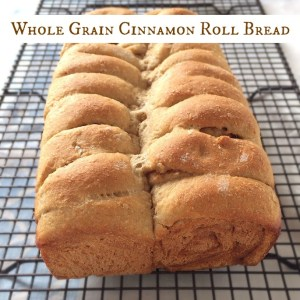 Whole Grain Cinnamon Roll Bread + Grain Crazy cookbook giveaway