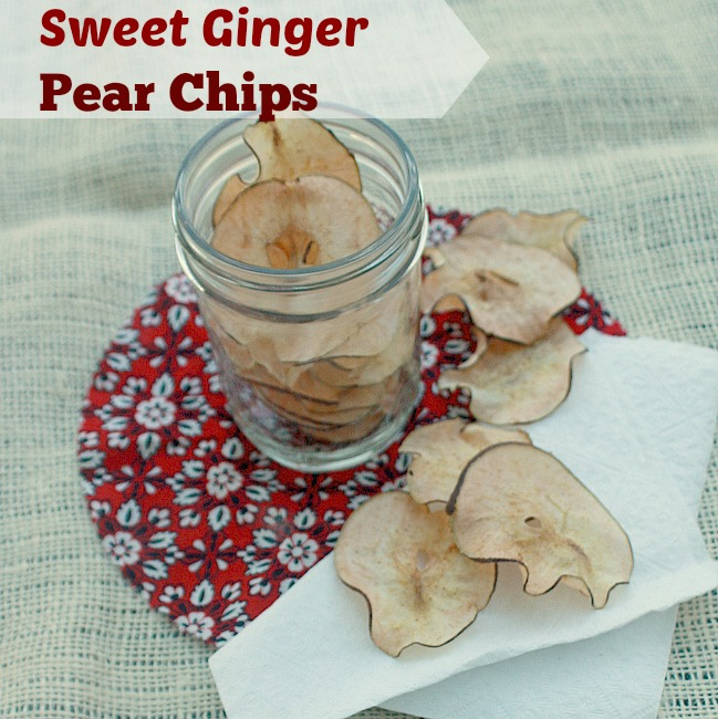 How to Make Pear and Apple Chips: Sweet Ginger Pear Chips
