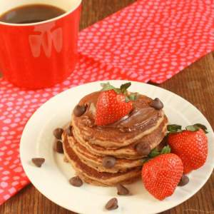 Triple Chocolate Whole Wheat Pancakes