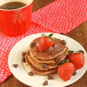 Triple Chocolate Whole Wheat Pancakes