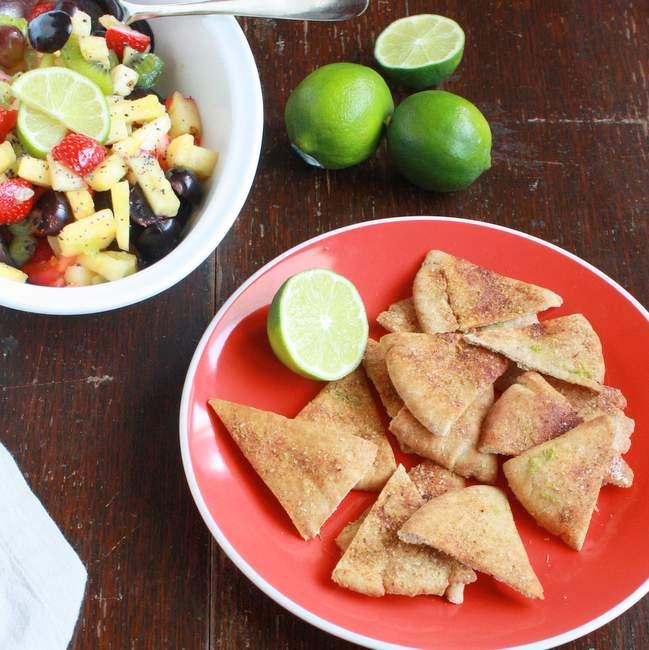 Lime Chili Chips & Fresh Fruit Salsa