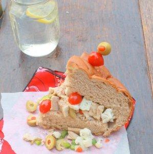Tuna Muffaletta with Olive Salad