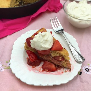 A citrus and cornmeal twist to a classic dessert: Strawberry Lemon Cornbread Shortcakes @tspbasil
