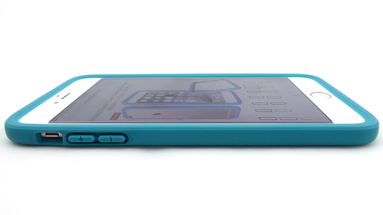 RhinoShield CrashGuard for iPhone 6s Plus in Teal Blue- Front Side View