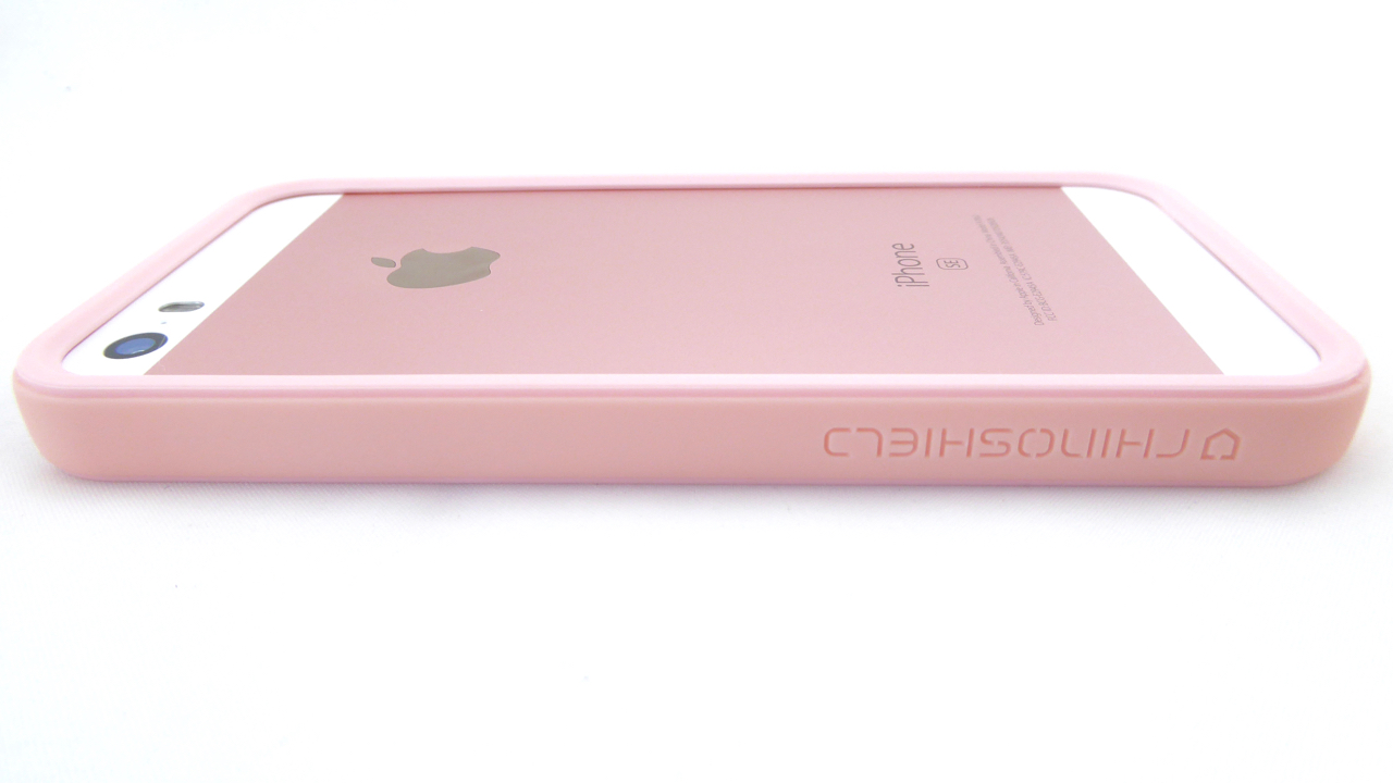 RhinoShield Crash Guard for iPhone SE in Shell Pink: Back Side View