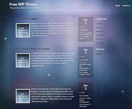 Dream Sky Wordpress Theme1 100+ Best Free Premium Wordpress Themes