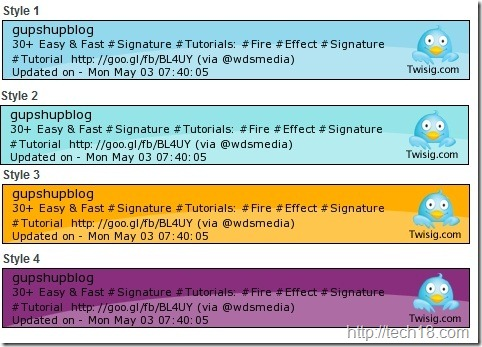 Twisigsignaturestyles thumb1 10 Best Free Twitter Signature Generators