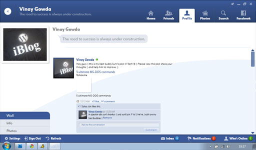 Fishbowl Profile1 Fishbowl : Facebook Desktop Application by Microsoft