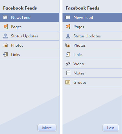 Fishbowl Sidebar1 Fishbowl : Facebook Desktop Application by Microsoft
