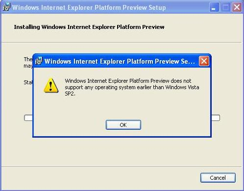 IE9 Installation Error 5 reasons why IE9 will not support Windows XP
