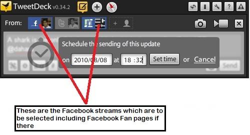 Tweetdeck Facebook Status update111 10 ways to schedule Facebook status updates