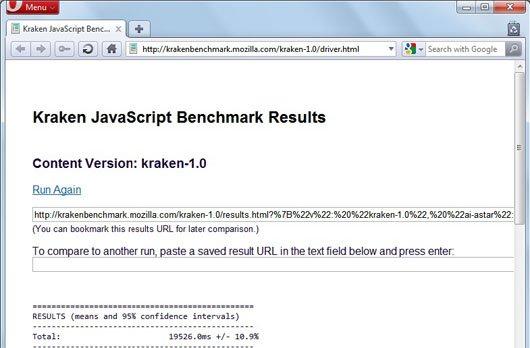 Opera 10 7 kraken javascript benchmark image1 Opera 10.70 Beta Tops Kraken JavaScript Benchmark!