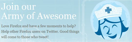 Firefox join army of awesome1 Firefox Seek Twitter Tweep's Help!