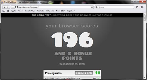 apple safari 5 0 2 html5 test score image1 IE9 PP6 Updates HTML5; Chrome Still Leads!