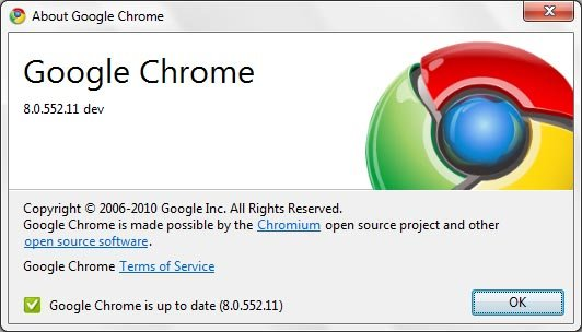 google chrome 8 dev version11 Google Chrome 9 Build Started!