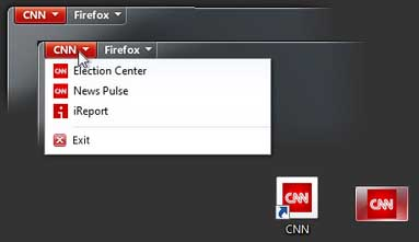 firefox 5 cnn news tab image First Look At Firefox 5   A Site Specific Browser!