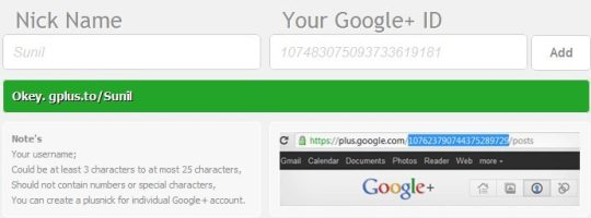 google profile shortener step 4 How To : Create A Short URL For Your Google+ Profile