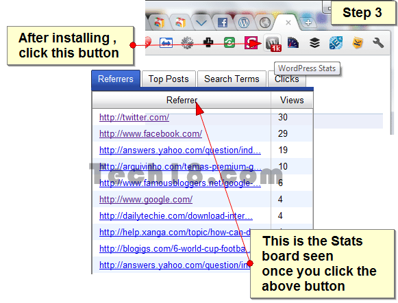 WordPress Stats Step 3 [How To] Access WordPress Stats via Chrome Extension