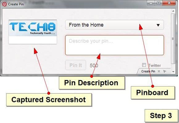 3 Send Screenhot Pinterest [How To] Send WebPage Screenshot To Pinterest Instantly