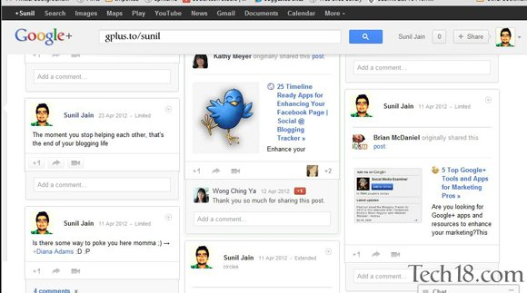 google pinterest ui profile How To : Get Pinterest Style UI on Google+