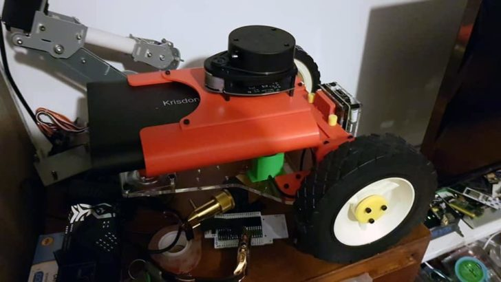 robot DIY Raspberry lidar Google Home photo