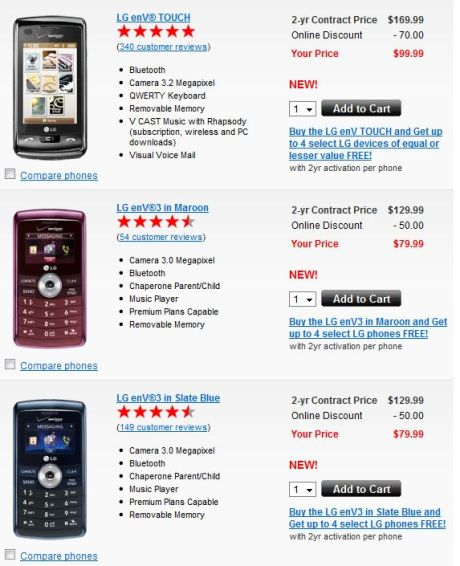 lg env3 and env touch verizon