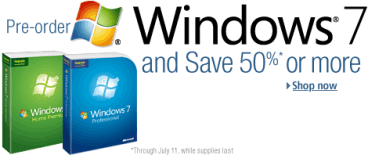 windows 7 pre order-- amazon