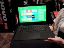 Windows 8 Start screen displayed at CES 2012 folding Yoga PC
