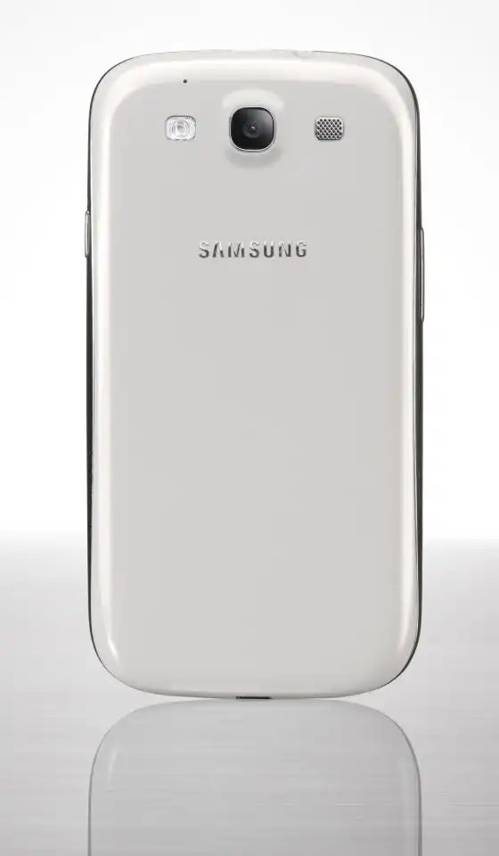 Samsung galaxy 3 back side with white color