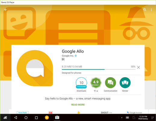 google-allo-on-pc-with-remix-os-player