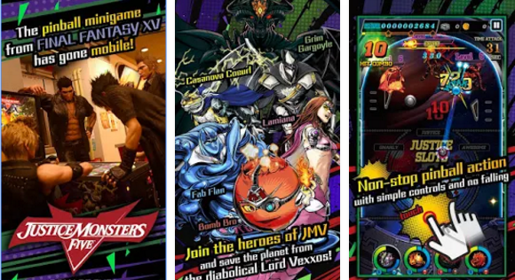 'Final Fantasy XV' Pinball Minigame 'Justice Monsters 5' Now a Mobile Game