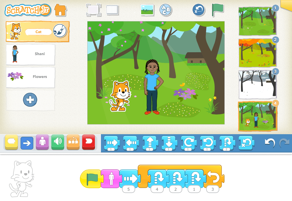 ScratchJr makes learning to code easy for kids as young as 5 years old!